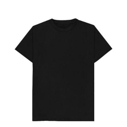 Picture of T-SHIRT cotton - BLACK (XS) unisex