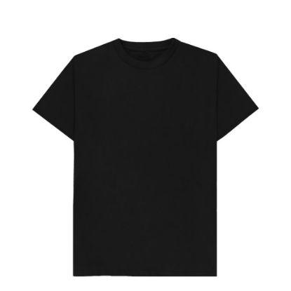 Picture of T-SHIRT cotton - BLACK (S) unisex