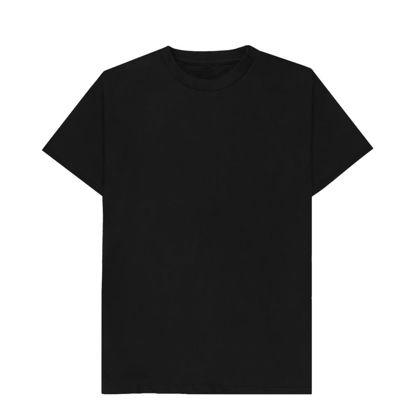 Picture of T-SHIRT cotton - BLACK (L) unisex