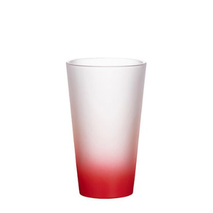 Εικόνα της MUG GLASS -17oz LATTE (FROST) RED Gradient