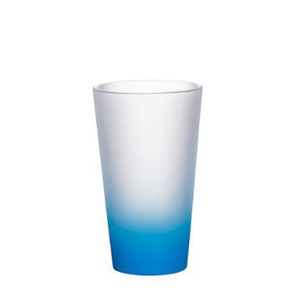 Εικόνα της MUG GLASS -17oz LATTE (FROST) BLUE L.Gradient