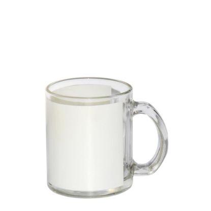 Εικόνα της MUG GLASS - 11oz Clear (White Patch)