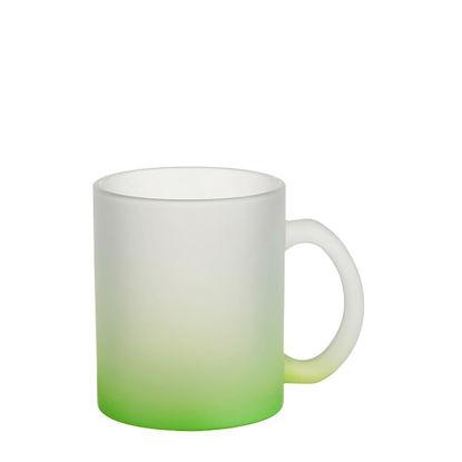 Εικόνα της MUG GLASS -11oz (FROSTED) GREEN Gradient