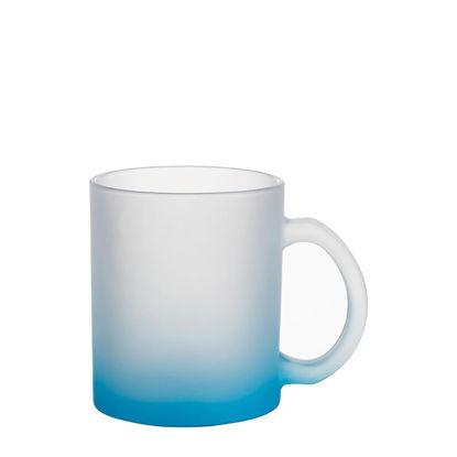 Εικόνα της MUG GLASS -11oz (FROSTED) BLUE LIGHT Gradient