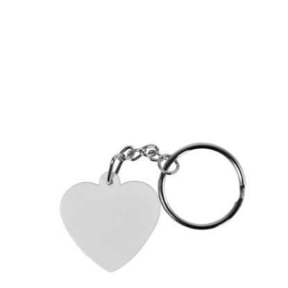 Picture of KEY-RINGS (plastic 2side)HEART-SHAPED-3.5x3.5