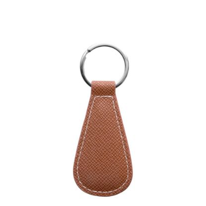 Picture of KEY-RING - PU LEATHER (WaterDrop) BROWN