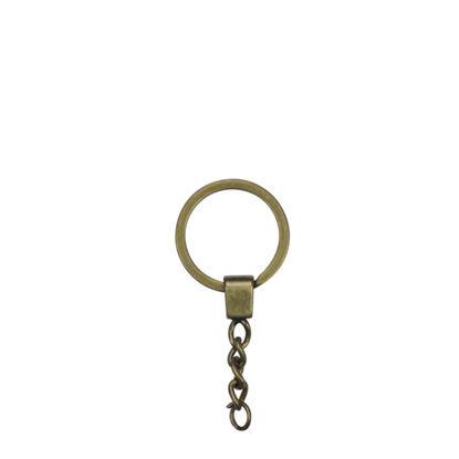 Εικόνα της METAL ring + METAL tab GOLDEN ANTIQUE