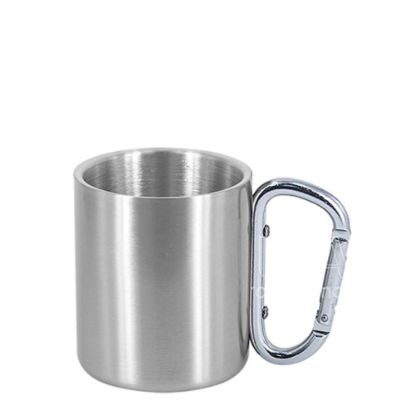Picture of STAINLESS ST. MUG 11oz - SILVER with SIL.Hand