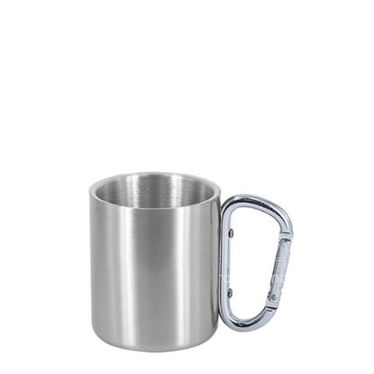 Picture of STAINLESS ST. MUG  8oz - SILVER with SIL.Hand