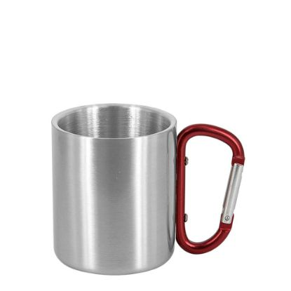 Picture of STAINLESS ST. MUG 11oz - SILVER with Red Hand