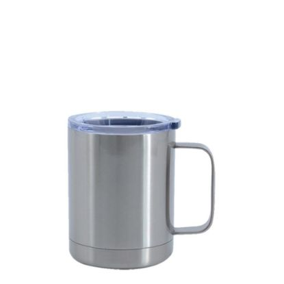 Picture of STAINLESS STEEL mug (with handle) 10oz SILVER