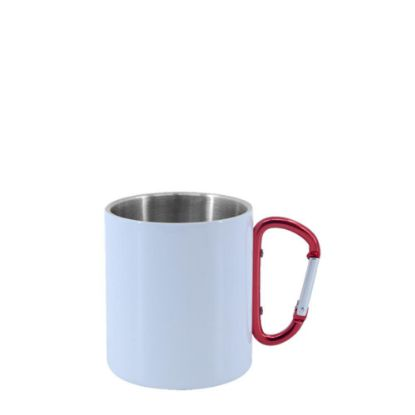 Picture of STAINLESS ST. MUG 8oz - WHITE with Red Hand