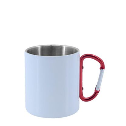 Picture of STAINLESS ST. MUG 11oz - WHITE with Red Hand
