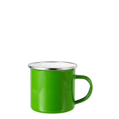 Picture of Enamel Mug  6oz. GREEN with Silver Rim