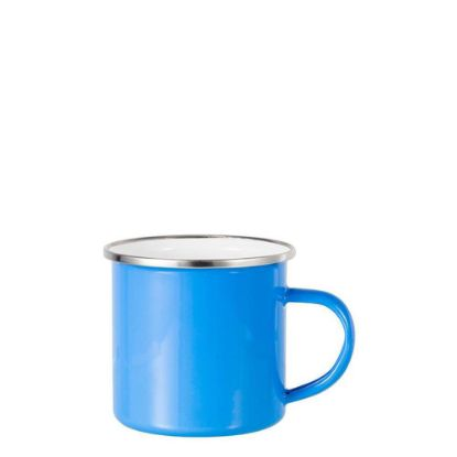 Picture of Enamel Mug  6oz. BLUE with Silver Rim