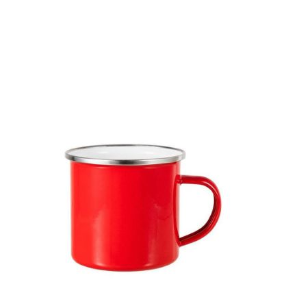 Picture of Enamel Mug  6oz. RED with Silver Rim