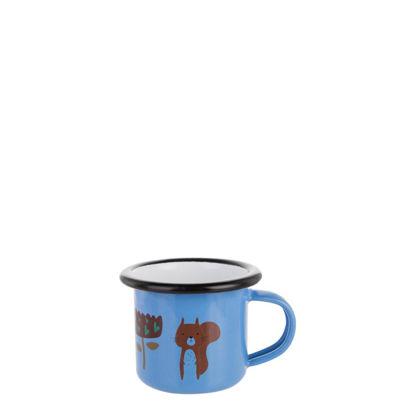 Picture of Enamel Mug  3oz. BLUE with Black Rim