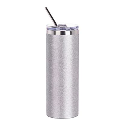 Picture of Skinny Tumbler 20oz (Glitter Silver)