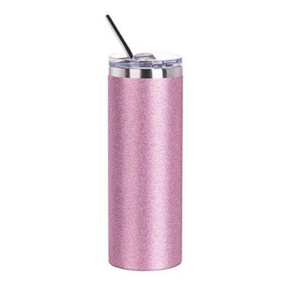 Picture of Skinny Tumbler 20oz (Glitter Pink)