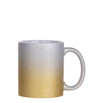 Εικόνα της MUG 11oz (GLITTER) SILVER+GOLD gradient