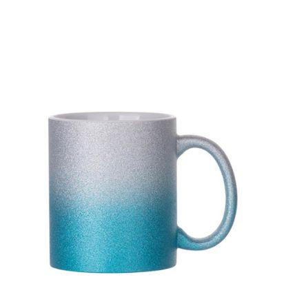 Εικόνα της MUG 11oz (GLITTER) SILVER+BLUE gradient