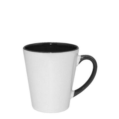 Εικόνα της MUG 12oz - INNER & HANDLE/Latte - BLACK