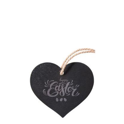 Εικόνα της SLATE for ENGRAVING (HEART) hanging 14.2x13