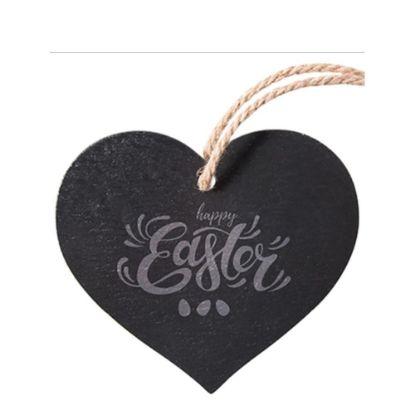 Εικόνα της SLATE for ENGRAVING (HEART) hanging 25x25