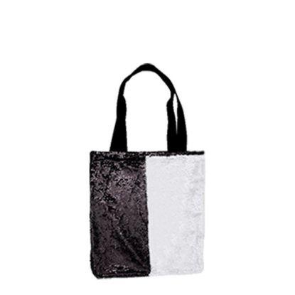 Picture of BAG Sequin+Linen  2-LAYERS (BLACK) 35x38cm