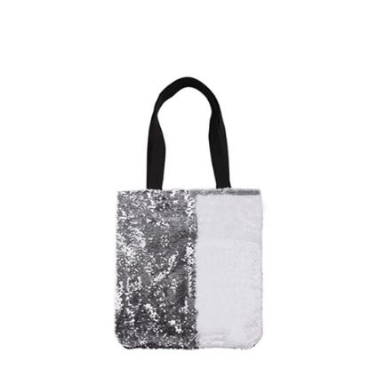Picture of BAG Sequin+Linen  2-LAYERS (SILVER) 35x38cm