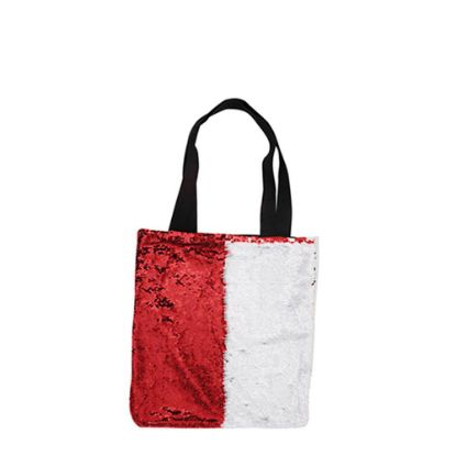 Picture of BAG Sequin+Linen  2-LAYERS (RED) 35x38cm