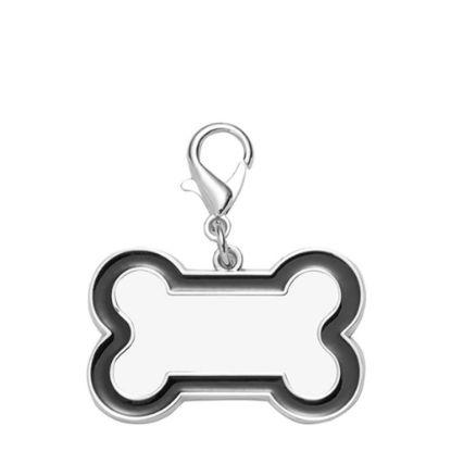 Picture of Pet Tag (DOG BONE Black edge) 3x4.5cm - Zinc alloy