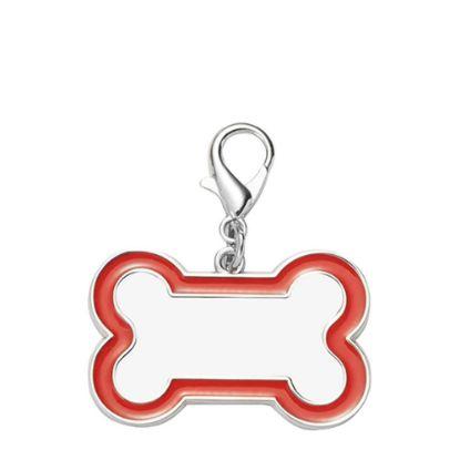 Picture of Pet Tag (DOG BONE Red edge) 3x4.5cm - Zinc alloy