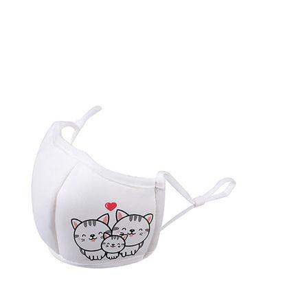 Εικόνα της Face Mask ADULTS 3D White/White (non medical) 13.5x20.5cm