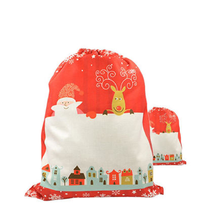 Picture of XMAS - SACK LARGE  (LINEN) red
