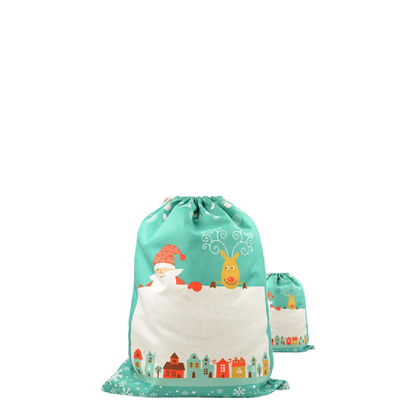 Picture of XMAS - SACK SMALL  (LINEN) green
