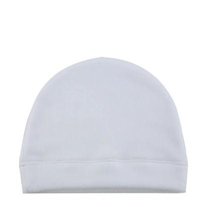Εικόνα της Fleece Baby Hat (Large) ultra-soft and light - White