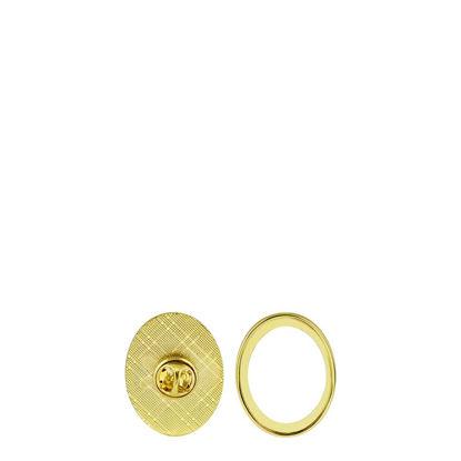 Εικόνα της Name Badge - PIN metal (oval) 2.5x3.2cm GOLD