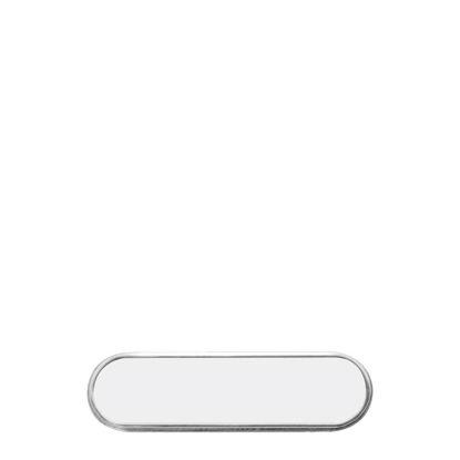 Εικόνα της NAME BADGE - METAL Oval 2x7.2cm
