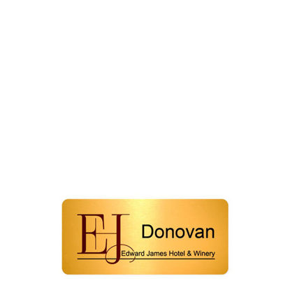 Picture of NAME BADGE (Alum.) GOLD GLOSS - 3.81x7.62