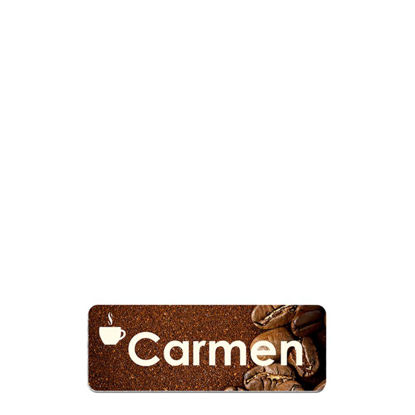 Picture of NAME BADGE (Alum.) WHITE GLOSS - 3.18x7.62