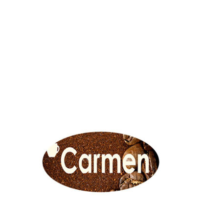 Picture of NAME BADGE (Alum.) WHITE GLOSS-3.81x7.62 Oval