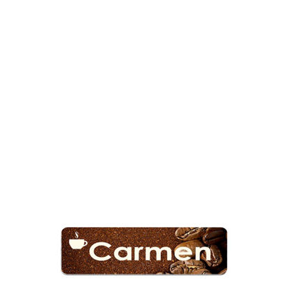 Picture of NAME BADGE (Alum.) WHITE GLOSS - 2.54x7.62
