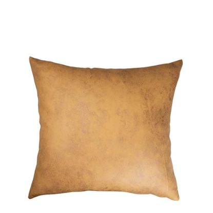 Picture of Pillow Cover (40x40cm) Leathaire Yellow Dark