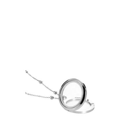 Εικόνα της NECKLACE with GLASS FRAME ROUND