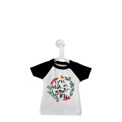 Εικόνα της Polyester T-Shirt (MINI Black - Collar & Sleeve) with Hanger
