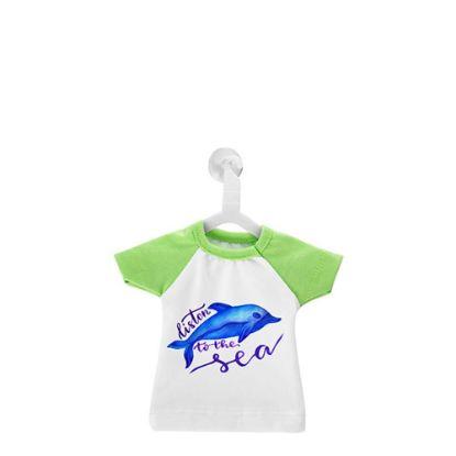 Εικόνα της Polyester T-Shirt (MINI Green - Collar & Sleeve) with Hanger