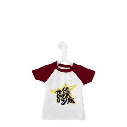 Εικόνα της Polyester T-Shirt (MINI Red - Collar & Sleeve) with Hanger