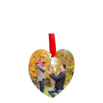 Picture of ORNAMENTS ALUMINUM - HEART