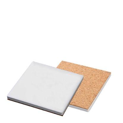 Picture of COASTER (SANDSTONE+cork) SQUARE 9.5 gloss